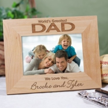 World's Greatest Personalized Wood Picture Frame