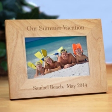 Personalized Vacation Photo Wood Picture Frames
