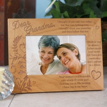 Your Memory is A Keepsake Engraved Memorial Wood Picture Frames