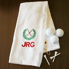 Golf Crest Embroidered Golf Towels