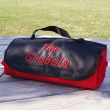 Embroidered Personalized Tailgating Fleece Picnic Blankets
