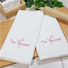 Embroidered Family Kitchen Towel Set