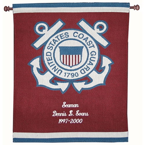 Personalized US Coast Guard Wall Hangings