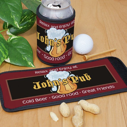 personalized cold beer pub can wrap koozies