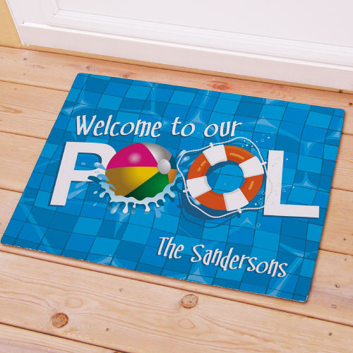 Welcome To Our Pool Personalized Doormats