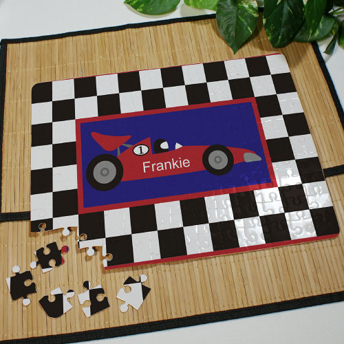 Personalized Race Car Jigsaw Puzzles