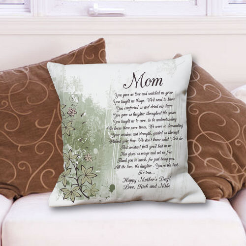 To My Mom Personalized Mother's Day Throw Pillows