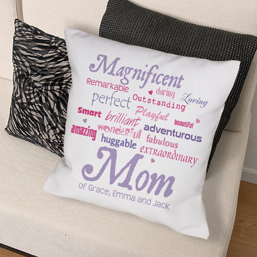 Magnificent Mom Personalized Mother's Day Throw Pillows