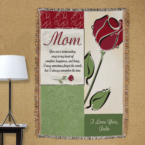 My Mother Personalized Tapestry Throw Blankets