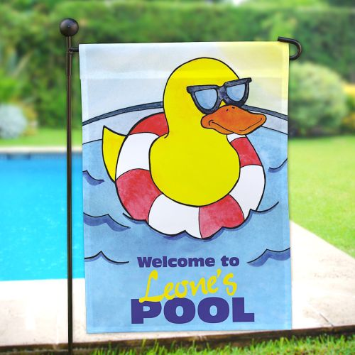 Personalized Cool Duck Swimming Pool Garden Flags