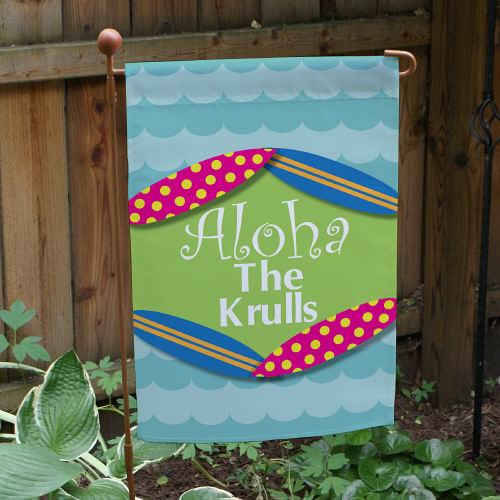Personalized Aloha Summer Garden Flags