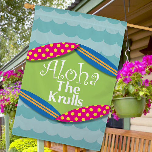 Personalized Aloha Summer House Flags