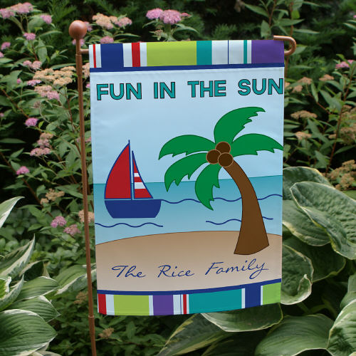 Personalized Fun in the Sun Garden Flags