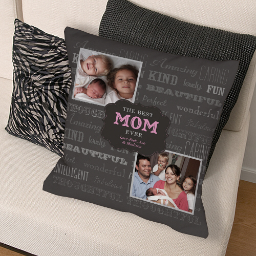Personalized Best Mom Photo Throw Pillows