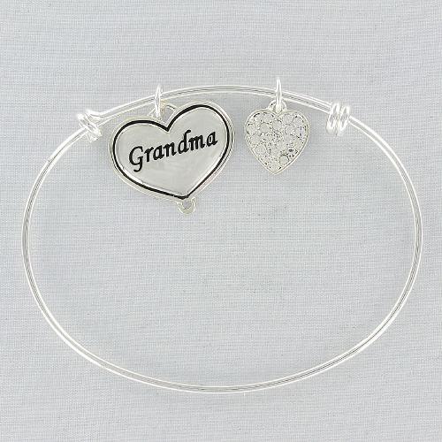 Silvertone Grandma Bangle Bracelets
