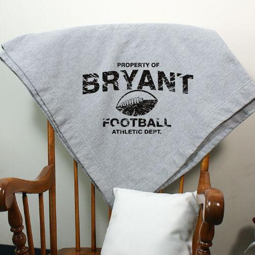 Personalized Football Fleece Stadium Blankets