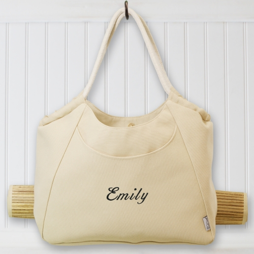 Embroidered Bridesmaids Cabo Beach Tote with Mat