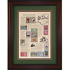 CPA Accountant Framed Stamp Collection
