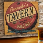 Free Beer Tomorrow Personalized Wood Tavern Signs