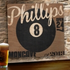 Lucky 8-Ball Personalized Wood Mancave Signs