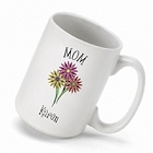 Personalized Bouquet Coffee Mugs