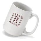 Initial Monogrammed Coffee Mugs