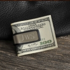 Engraved Stainless Steel Folding Money Clip