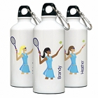 Personalized Go-Girl Aluminum Tennis Water Bottles