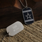 Engraved NFL True Colors Football Dog Tags