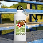 Football Personalized Water Bottles