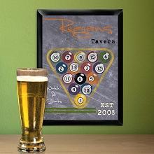 Personalized Billiards Tavern Signs