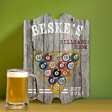 Personalized Billiards Man Cave Vintage Pub Sign