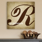 Personalized Family Initial Canvas Prints