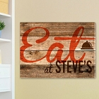 Personalized Reclaimed Kitchen Family Canvas Prints