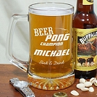 Beer Pong Personalized Sports Glass Mugs