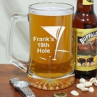 19th Hole Golf Personalized Glass Beer Mug