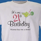 Buy Me A Drink Personalized 21st Birthday T-Shirt