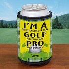Pro Beer Drinker Personalized Golf Can Wrap Koozie