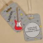 Personalized Electric Guitar Luggage Tag