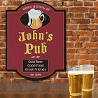 Personalized Cold Beer Pub Signs