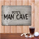 Personalized Man Cave Metal Wall Signs