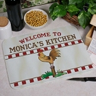 Rooster Personalized Kitchen Cutting Boards