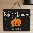 Happy Halloween Welcome Personalized Slate Plaque