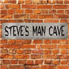 Personalized Man Cave Metal Street Signs
