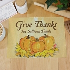 Thanksgiving Personalized Kitchen Cutting Boards