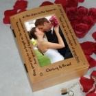 Personalized Wedding Blessing Photo Keepsake Box