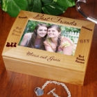 Engraved Best Friends Photo Keepsake Box
