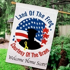 Personalized Land of the Free House Flags