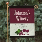 My Winery Personalized Garden Flag