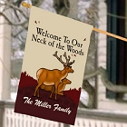 Personalized Neck of the Woods House Flags